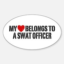 My Heart Belongs to a Swat Officer Decal
