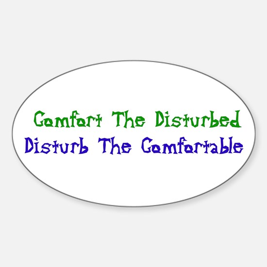 Disturbed Oval Decal