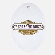 Great Sand Dunes National Park Ornament (Oval)