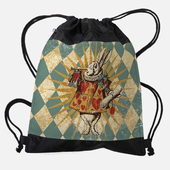 Alice White Rabbit Vintage Drawstring Bag