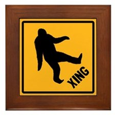 Bigfoot Crossing Framed Tile