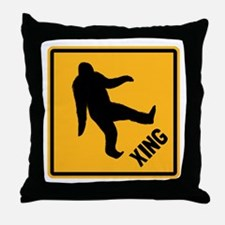 Bigfoot Crossing Throw Pillow