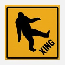Bigfoot Crossing Tile Coaster