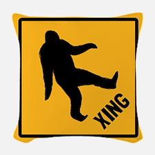 Bigfoot Crossing Woven Throw Pillow