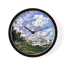 Monet - The Marina at Argenteuil Wall Clock