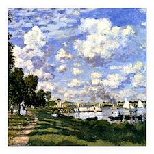 "Monet - The Marina at Ar Square Car Magnet 3"" x 3"""