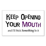 Keep Opening Mouth Rectangle Sticker