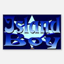 Island Boy Rectangle Decal