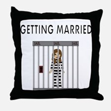 GETTING MARRIED Throw Pillow