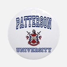 PATTERSON University Ornament (Round)