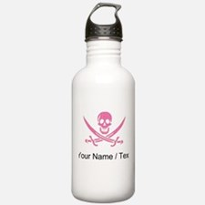 Custom Pink Crosshatch Calico Jack Skull Water Bot