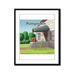 Pomeranian On Granite (Pomgranite) Framed Panel Pr