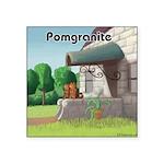 Pomeranian On Granite (Pomgranite) Sticker