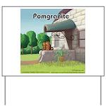 Pomeranian On Granite (Pomgranite) Yard Sign