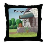 Pomeranian On Granite (Pomgranite) Throw Pillow
