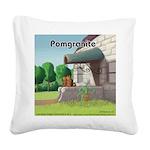 Pomeranian On Granite (Pomgranite) Square Canvas P