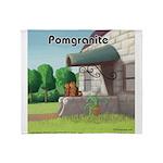 Pomeranian On Granite (Pomgranite) Throw Blanket