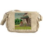 Pomeranian On Granite (Pomgranite) Messenger Bag
