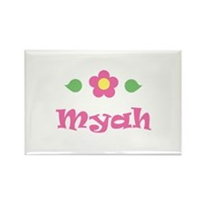 "Pink Daisy - ""Myah"" Rectangle Magnet"