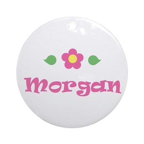 "Pink Daisy - ""Morgan"" Ornament (Round)"