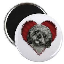 "Shih Tzu Valentine 2.25"" Magnet (100 pack)"