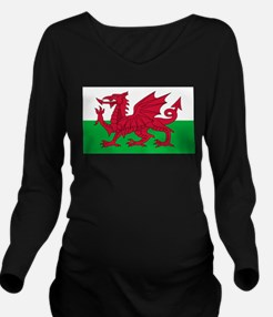 Wales Long Sleeve Maternity T-Shirt