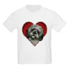 Shih Tzu Valentine Kids T-Shirt