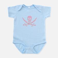 Pink Herringbone Calico Jack Skull Body Suit