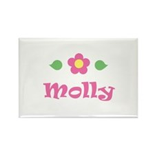 """Pink Daisy - """"Molly"""" Rectangle Magnet"""