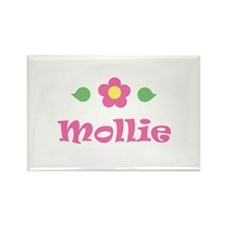 """Pink Daisy - """"Mollie"""" Rectangle Magnet"""
