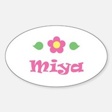 "Pink Daisy - ""Miya"" Oval Decal"