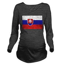 Slovakia Long Sleeve Maternity T-Shirt