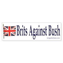 Brits Against Bush (bumper sticker)