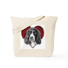 Springer Spaniel Valentine Tote Bag