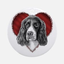 Springer Spaniel Valentine Ornament (Round)