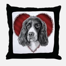 Springer Spaniel Valentine Throw Pillow