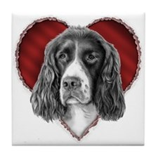 Springer Spaniel Valentine Tile Coaster