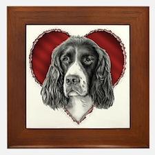Springer Spaniel Valentine Framed Tile