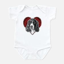 Springer Spaniel Valentine Infant Bodysuit