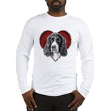English springer spaniel valentine Long Sleeve T-shirts
