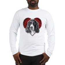Springer Spaniel Valentine Long Sleeve T-Shirt