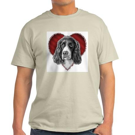 Springer Spaniel Valentine Light T-Shirt