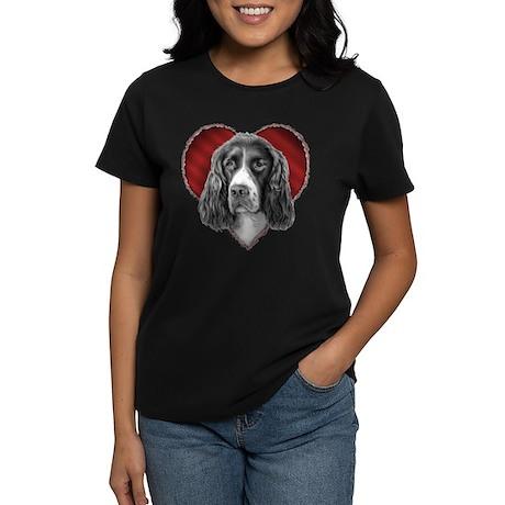 Springer Spaniel Valentine Women's Dark T-Shirt