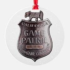 California Game Warden Ornament
