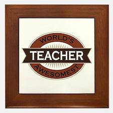 Teacher (World's Awesomest) Framed Tile