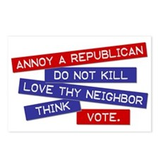 """""""Annoy a Republican""""  Postcards (Package of 8)"""