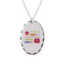 Funny 40th Birthday (Feels Good) Necklace