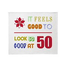 Funny 50th Birthday (Feels Good) Throw Blanket