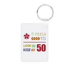 Funny 50th Birthday (Feels Good) Keychains