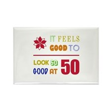 Funny 50th Birthday (Feels Good) Rectangle Magnet